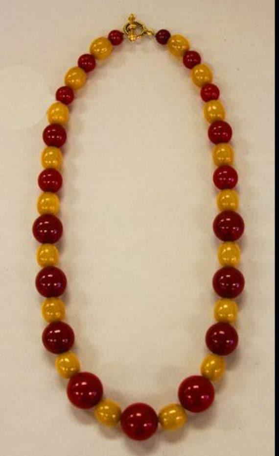 Cherry and Pineapple Bakelite Bead Necklace