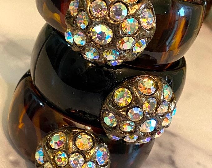 Featured listing image: Diamonds and Rust Original Design Vintage Bracelet Eisenberg Era Button Verdura Inspired