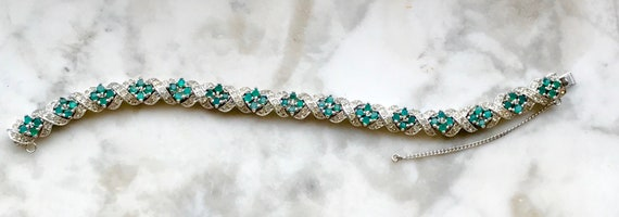 Dazzling Panetta Emerald and Pave Fine Jewelry Look Bracelet