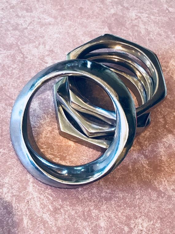 Fabulous Glen Yank Modernist Aluminum Bracelet Set