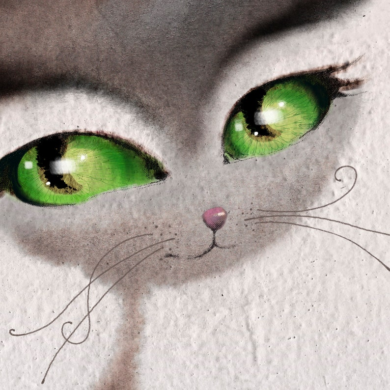 Sophie de Eyebrows Giclee art print 8.5x11A4 or 12x16A3 Portrait of a cat countess watercolor illustration