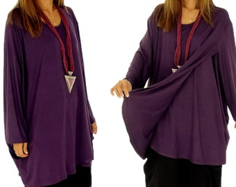 HP400DBL tunic top layer look Jersey size 38-54 dark blue