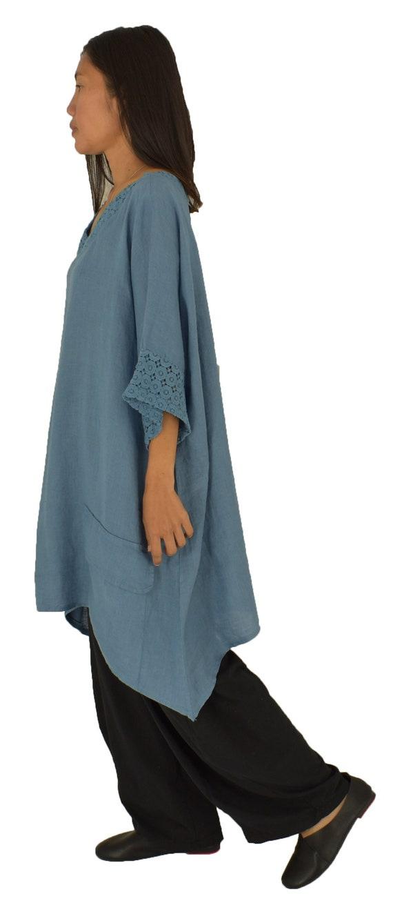 90afd36c51a5d Linen oversize blouse LC900MBL Women s tunic linen vintage