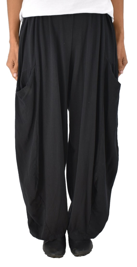 565f2091574 Large size pants LC700SW Plus Size mega-wide balloon pants one