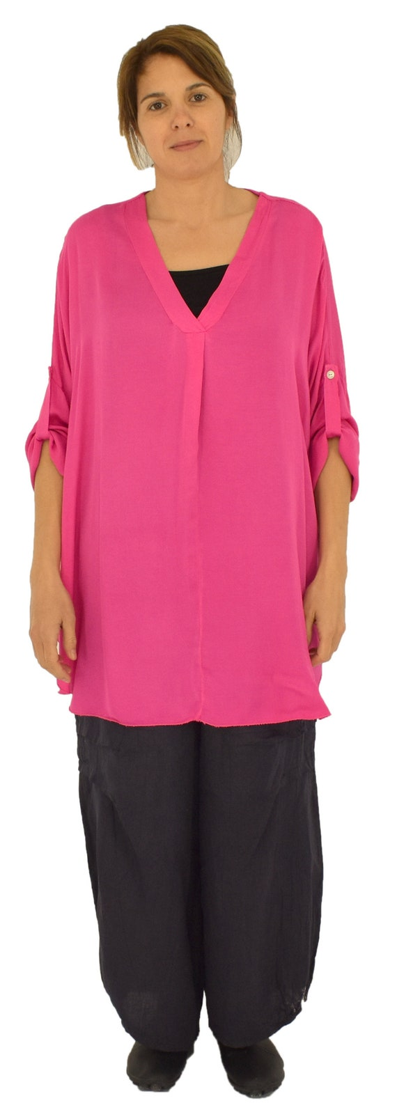 ba267e8bf52a1 Large size blouse LB300PK Women s tunic oversize Plus Size