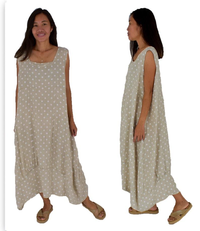 2a4f1aaae4e Large Size Linen Dress HE700BGH54 Women Plus Size Longtunic