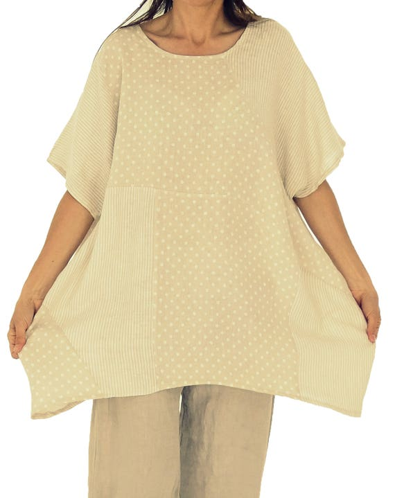 30ed8fde37e54 HZ900BG Women s blouse tunic oversize linen Ballontunika