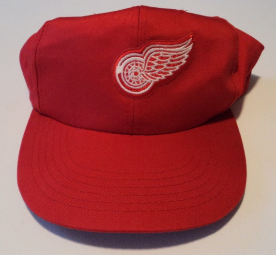 9645844f636 Vintage Detroit Red Wings  80s Krystal Snapback Hat NHL