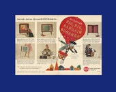 RCA Victor Big Bargain Bonanza Electronics Original 1962 Vintage Color Print Ad - Cartoon of Disney Ludwig Von Drake Duck in Hot Air Balloon