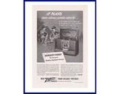 ZENITH Trans-Oceanic Portable Radio Original 1947 Vintage Black White Print Advertisement quot It Plays Where Ordinary Portable Radios Fail quot