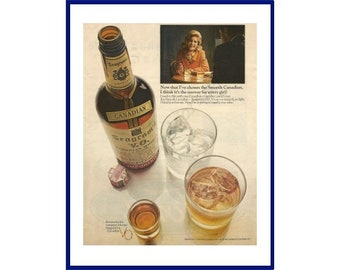 de35781a7df78 SEAGRAM S V.O. CANADIAN Whisky Original 1966 Vintage Extra Large Color  Print Advertisement