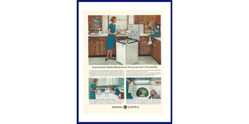Ge Lave Vaisselle Originale 1963 Vintage Extra Large Couleur Etsy