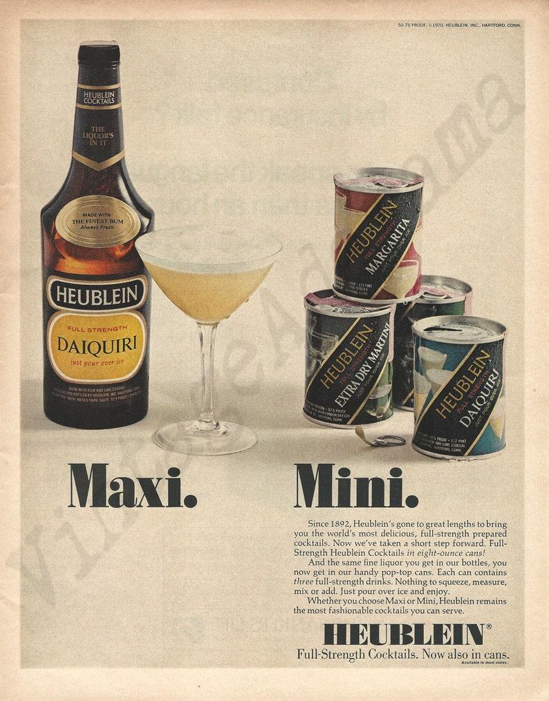 Bottled /& Canned Cocktails. Mini Maxi HEUBLEIN COCKTAILS Original 1970 Vintage Extra Large Color Print Advertisement