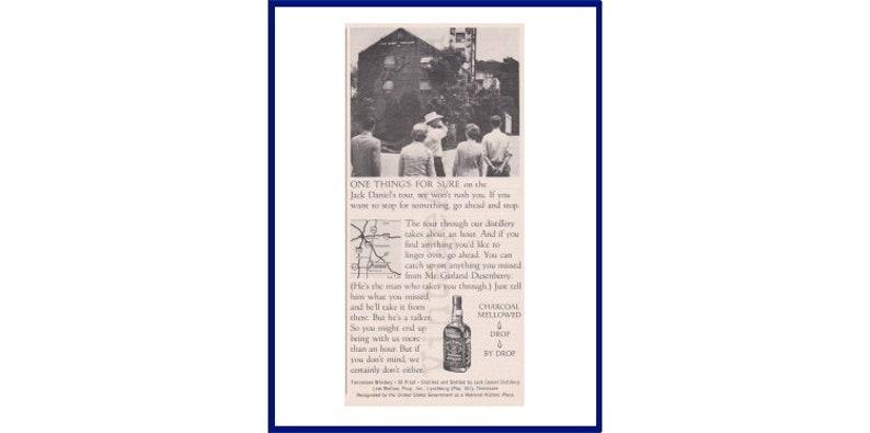 Lynchburg Tennessee Distillery Tour JACK DANIEL/'S WHISKEY Original 1973 Vintage Black /& White Print Advertisement