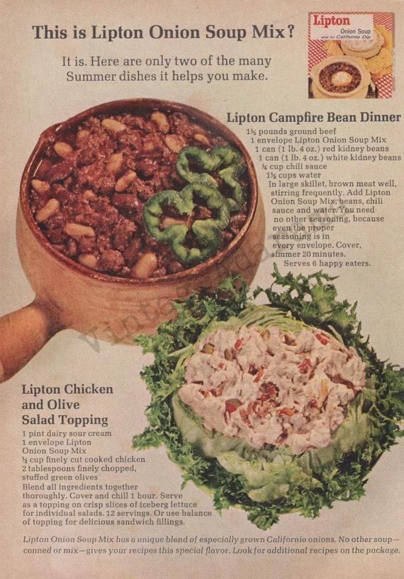 Lipton Onion Soup Mix Original 1965 Vintage Color Print Etsy