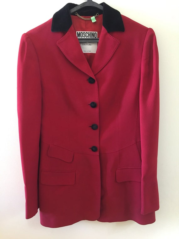 Vintage 1980s Moschino Couture Red Blazer