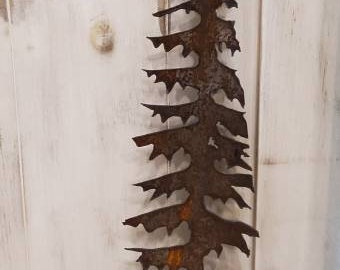 Saw Art Tall Forest Pine Tree Metal Antique Silhouette Unisex Gift Home Decor Rustic Wood Handle Cottage Mantel Hand Made Canada Etsy