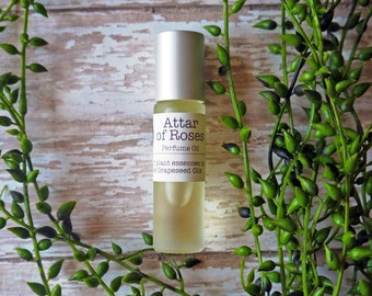 Rose and Sandalwood | Rollerball Roll On Perfume Oil | Herb and Root 10ml