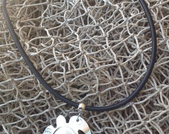 Turtle, Fonu Or Honu. Polynesian Style Carved Mother Of Pearl Turtle Necklace Or Pendant. Perfect For Both Male And Female Of All Ages