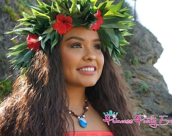 Moana Inspired Headpiece. Perfect For Children & Adult Too. Beach Wedding, Birthday Party, Luau, Costumes Or Gift For Your Children.