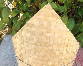Weaved Lauhala Headpiece Base. Perfect For Making Your Own Headpiece Or Any Polynesian Headpiece.