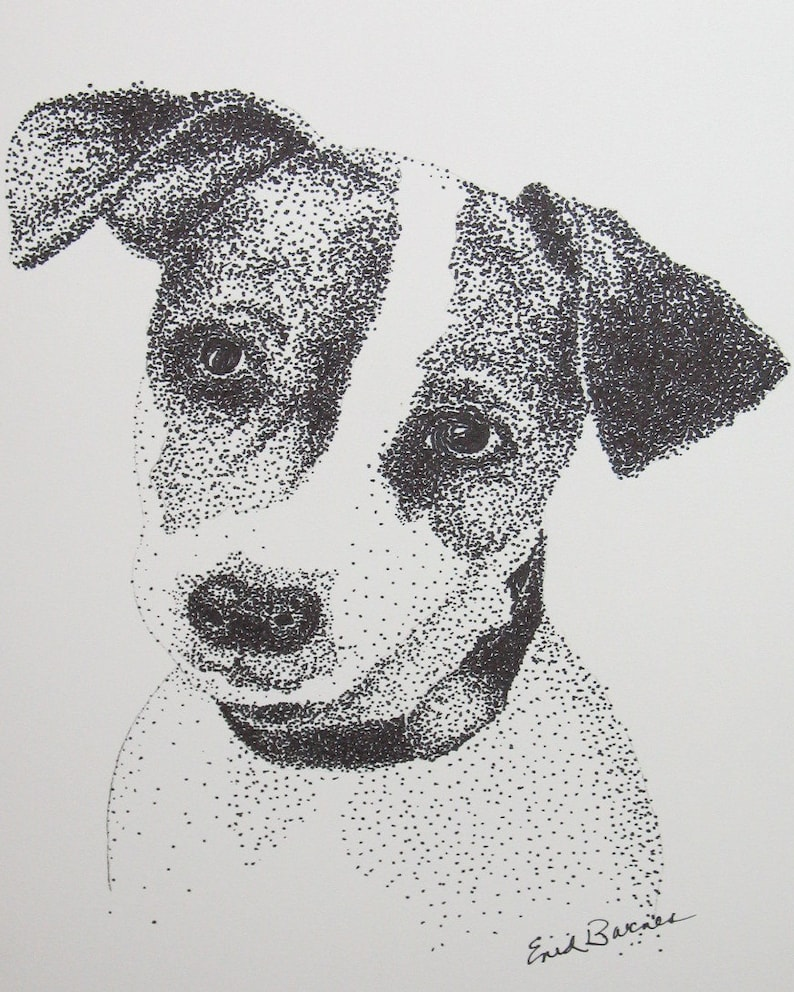 Dibujo De Un Perro Con Puntillismo Wwwmiifotoscom