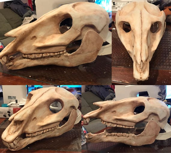 Horse Skull Mask For Equine Fursuit Mascot Or Creature Etsy