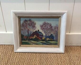 Framed Vintage 1950's Landscape Oil Painting