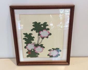 Vintage Framed Paper Collage Art