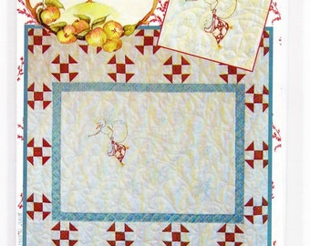 """Snowflake Angel 27.5"""" x 25.5"""" Quilted Wallhanging"""