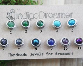 Sale!   Grade One Titanium studs   Niobium Studs   non-allergenic earrings   titanium earrings   non-allergenic studs   Stone studs