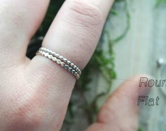 Dot stacking ring | Hammered stacking ring | Silver stacking ring | Silver Dot ring | Hammered ring