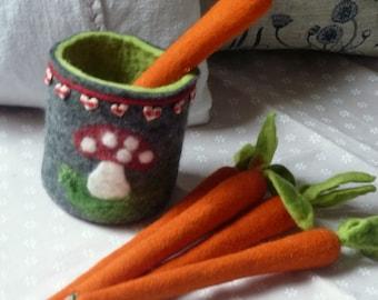 Felt pen Felt carrot