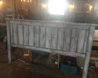 Rustic Headboard White Washed Taitum