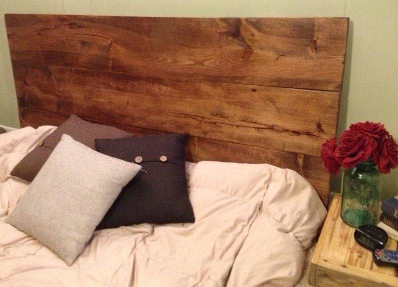 Rustic Wood headboard Sophie King Headboard image 0