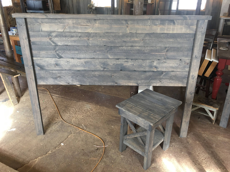 Weathered Gray Rustic Wood Headboard Weathered | Etsy