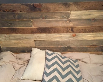 "Rustic headboard ""Lucy ll"", Queen wood Headboard, King Headboard, Full, Twin, Pallet headboard, custom, wall art, Vintage Queen"