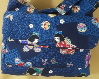 Asian Kimono Dolls Hobo Bag