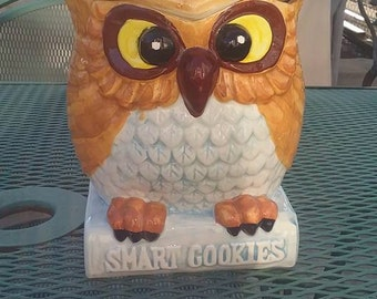 1970s Enesco Smart Cookies Owl Cookie Jar