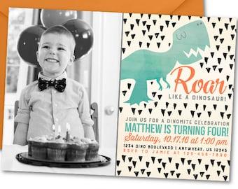 Dinosaur Birthday Invitation, Dinosaur Invitation, Dinosaur Birthday Party, Watercolor Dinosaur Invitation, Watercolor Invitation, Dinosaurs