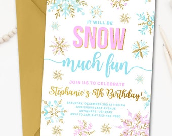 Winter Wonderland Invitations Etsy