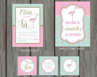 Flamingo Birthday Party, Flamingo Birthday Party Decorations, Flamingo Decorations, Flamingo Party, Flamingo Party Kit, Flamingos