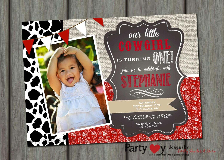 Cowgirl Birthday Invitation Paisley Birthday Invitation | Etsy