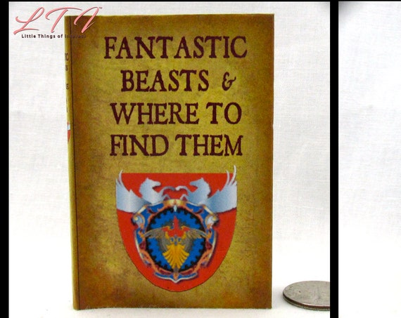 """FANTASTIC BEASTS And Where To Find Them 1:3 Scale Readable Book American Girl 18"""" Doll Illustrated Popular Boy Wizard Witch Potter Magic"""
