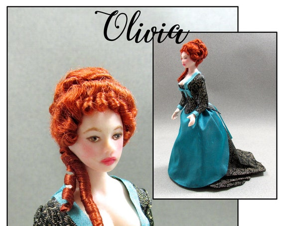 Dollhouse Doll OLIVIA Doll Pattern Tutorial Instructions PDF 1:12 Scale Instant Download DIY 1880 Walking Dress House Worth Experienced
