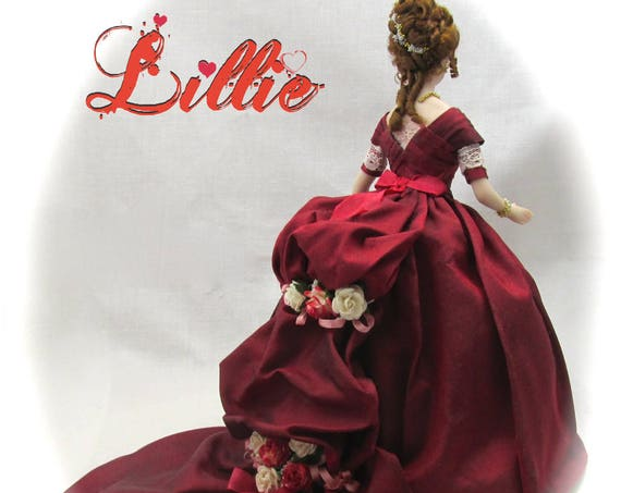 Dollhouse Doll LILLIE Doll Pattern Instructions PDF Dressing Miniature Dollhouse Doll 1:12 Scale Instant Download DIY (Experienced)