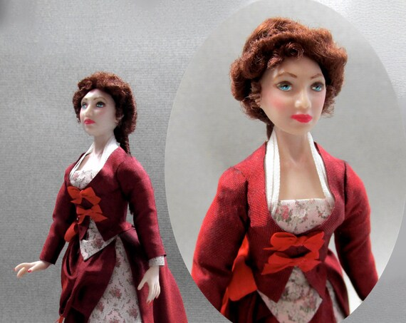 Dollhouse Doll CAMELA Doll Pattern Tutorial Instructions PDF 1:12 Scale Instant Download DIY 1880 Bustle Dress House Worth Experienced