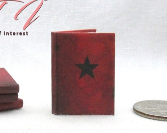WINTER SOLDIER JOURNAL Miniature 1:12 Scale Illustrated Readable Book