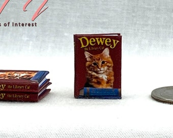 DEWEY The LIBRARY CAT Illustrated Miniature 1:12 Scale Book