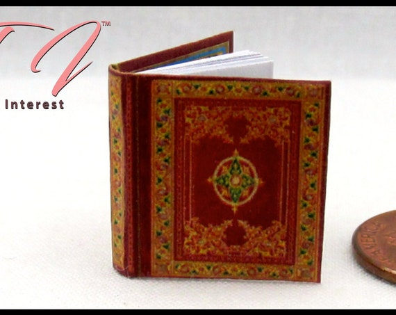 The SECRETS of The TAROT Illustrated Miniature Book Dollhouse 1:12 Scale Book Fortune Teller Tarot Ghosts